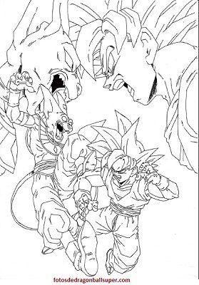 Goku En 4 Dibujos Para Pintar De Dragon Ball Super Sin Color Paperblog Dibujos Dragones Dibujo De Goku