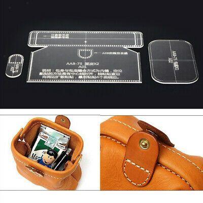 3pcs Leather Craft Acrylic Shoulder Messenger Bag Pattern Templates Stencil