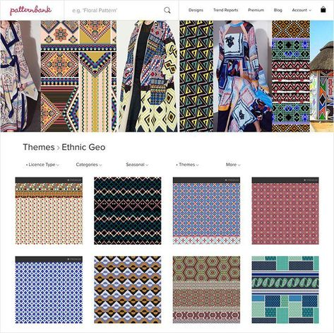 Ethnic Geo AW1718 – Hand Curated Seasonal Trend Theme on the Patternbank Studio