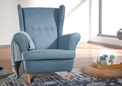 Sessel Blau Versandfrei Kaufen Massivmoebel24 Sessel Blau Ohrensessel Blau Sessel