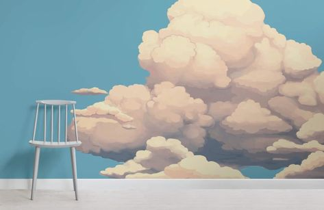 Big Clouds Wallpaper Wall Mural