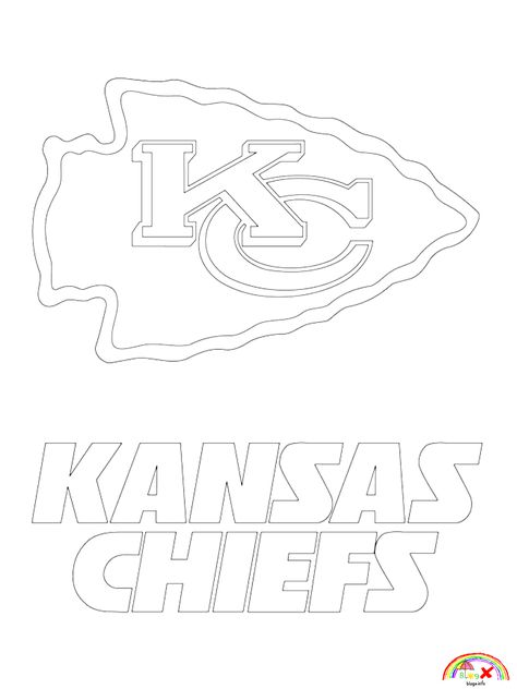 Nfl Team Logo Kansas Chiefs Coloring Page In 2020 Kansas City