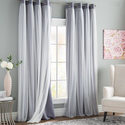 Rosdorf Park Brockham Solid Room Darkening Thermal Grommet Curtain