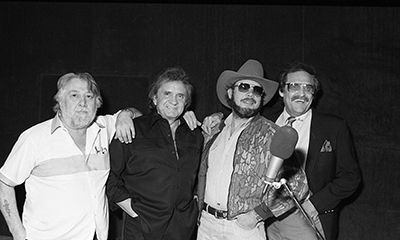Jack Clement Johnny Cash Hank Jr And Merle Kilgore In Jack