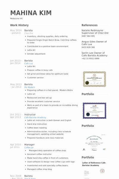 Starbucks Barista Job Description Resume Best Of Resume Examples Barista 1 Resume Examples Resume Examples Good Resume Examples Resume