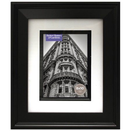70721825ebe38c243cf78d9f607b99c7 - Better Homes And Gardens 8x10 Matted Beveled Black Picture Frame