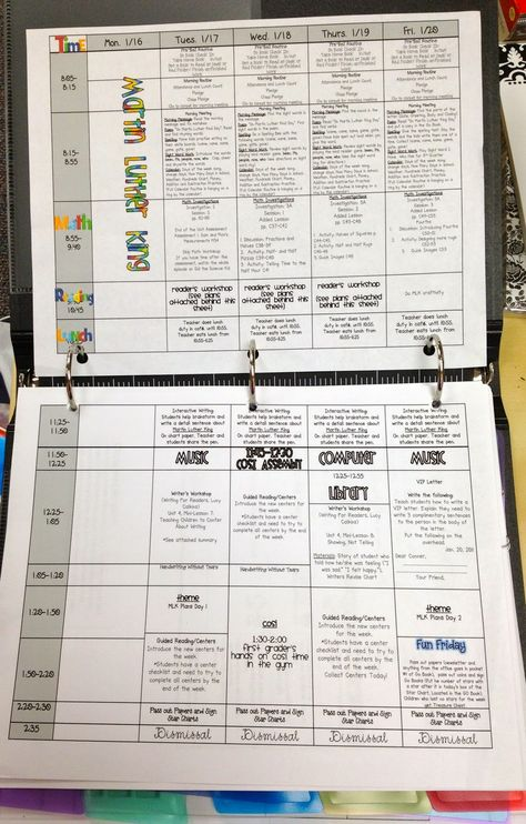 To be this organized!  Nice layout for lesson plans