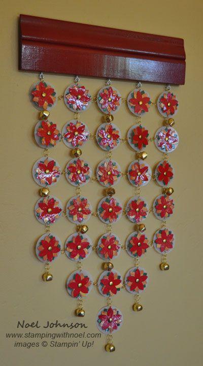 Handmade Poinsettia Wind Chimes