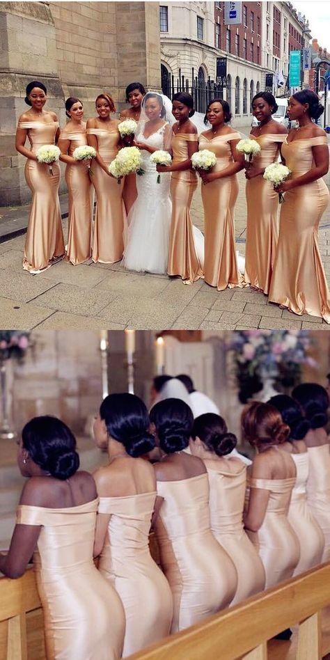 Tight Prom Dresses, Floor-Length Light Champagne Bridesmaid Dresses, Long Bridesmaid Dresses For Wedding Yonkers Bridal