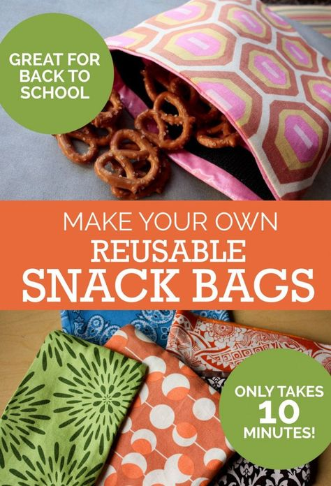 Tutorial: Make Your Own Reusable Snack Bags