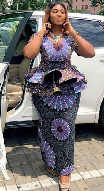 Ankara Peplum styles   African fashion skirts, African fashion dresses, African fashion women clothing
