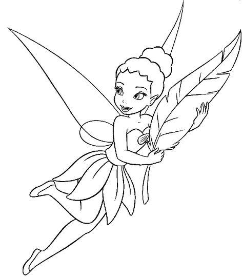 Peri Boyama Sayfasi Tinkerbell Coloring Pages Fairy Coloring