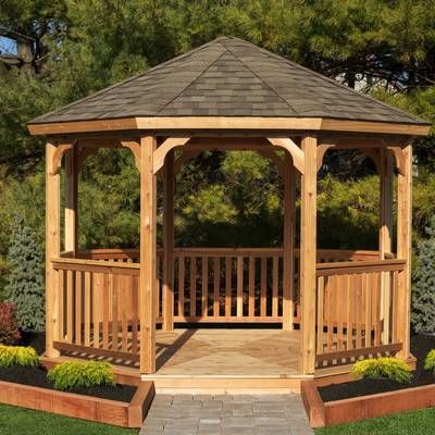12 Ft W X 12 Ft D Solid Wood Patio Gazebo Patio Gazebo Garden Gazebo Pergola Plans