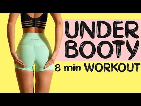 8 min under booty workout designed to sculpt and lift into the under booty. I recommend completing this workout times per week to get results. Home Exercise Routines, At Home Workout Plan, At Home Workouts, Workout Ideas, Workout Challenge, Lifting Workouts, Weight Training Workouts, Treadmill Workouts, Toning Workouts