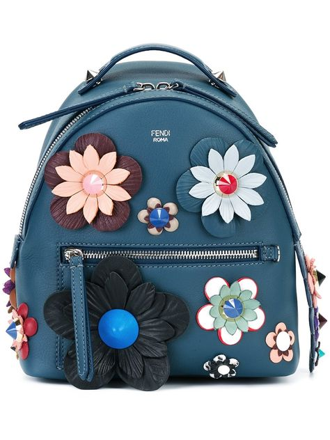 c92b489cb83d Fendi mini flower appliqué backpack