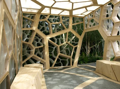 HEXigloo: Honeycomb Cardboard Pavilion Pops Up In Bucharest!... | Bucharest,  Pavilion And Honeycombs