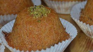 ميني كنافة بالقشطة Recipe Food Cookies Grains