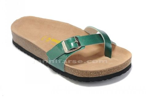 Birkenstock Piazza Artificial Leather Green Sandals