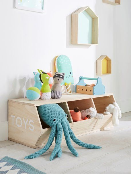 Regal \'Toys\', 3 Boxen - natur - 4 | Kinderzimmer in 2019 ...
