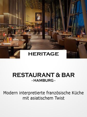 Restaurant \ Bar HERITAGE, Hamburg Charming Cities Pinterest - hamburger küche restaurant