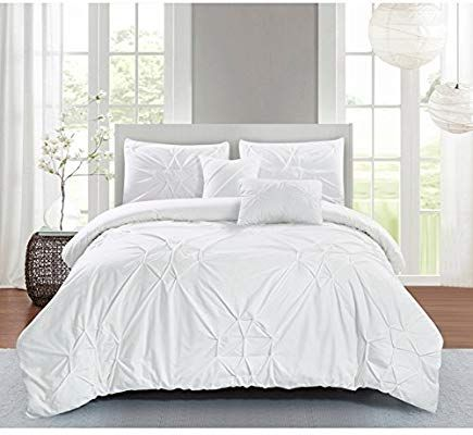 Amazon Com Ph 5 Piece King White Comforter Set Lightweight