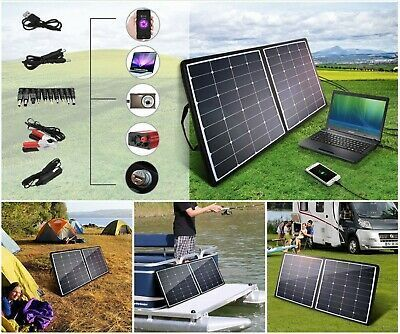 Advertisement 120w Portable Folding Solar Panel Battery Charger Rv Boat Car Ou Advertisement 120w Portabl In 2020 Solar Panel Charger Solar Portable Solar Panels