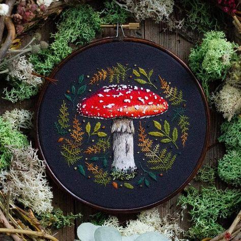 Felted wool sculpture mushroom Fall nature room decor Felt cottagecore decor realistic mushroom