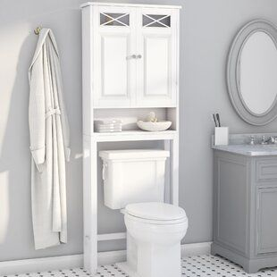 Over Toiler Storage Unit In 2020 Toilet Storage Toilet Shelves Wall Mounted Bathroom Cabinets