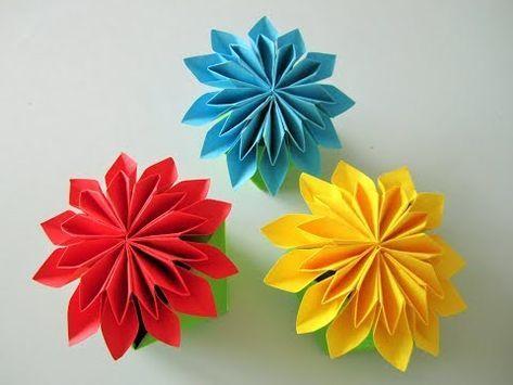 Origami Rose Box :: Caja Rosa - YouTube   355x473