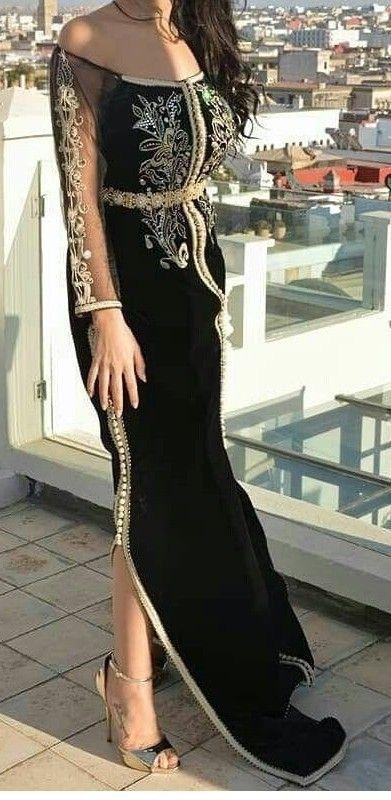 Fer Forge Marroc موديلات قفطان مغربي عصري 2019 Fashion Arabic Wedding Dresses Emo Dresses