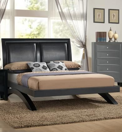 Emily Arch Collection Em1600 Q Queen Size Platform Bed With Faux