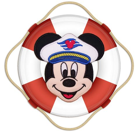 Cruise Mickey Mouse Face No Sew Applique Patch by SewCuteApplique, $9.75
