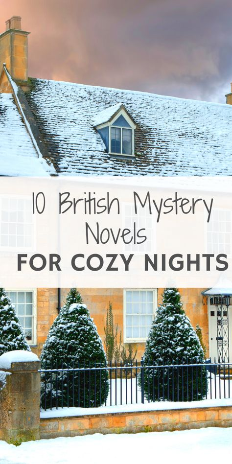 Cozy, British mystery novels for cold, winter nights I Love Books, Great Books, Books To Read, My Books, Murder Mysteries, Cozy Mysteries, English Novels, Spirituality Books, Mystery Novels