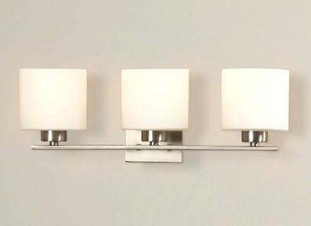 bathroom light fixture with outlet plug