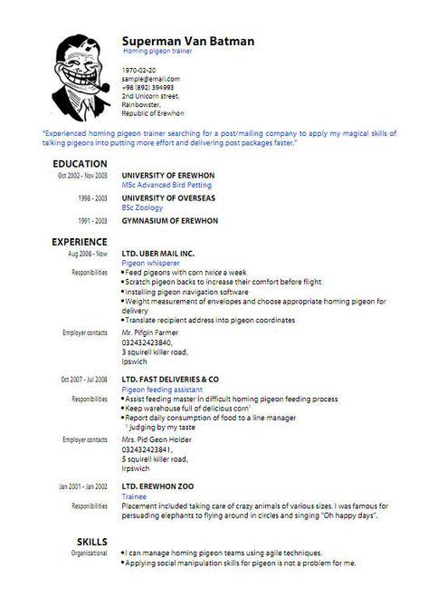 Resume Template Pdf Download Sample Resume Templates Pdf Resume - od specialist sample resume