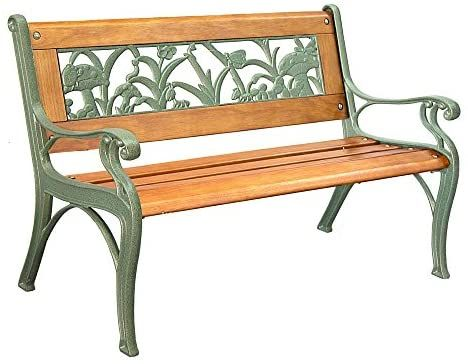 Amazon Com Innova C14121 Cast Iron Oak Kids Garden Bench Hammertone Golden Green Outdoor In 2020 Wooden Bench Outdoor Metal Outdoor Furniture Garden Bench Seating