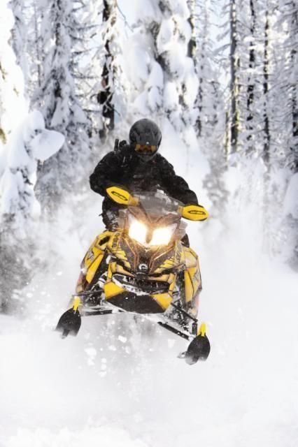 2013 Ski Doo Renegade Backcountry X In Action Snowmobile Snow Fun Big Girl Toys