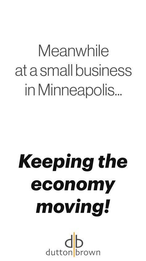 Keeping the economy moving!