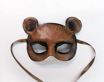 Leather Black Bear Mask