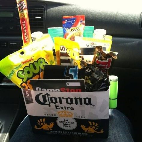Made this easter basket for my boyfriend so easy and a huge hit made this easter basket for my boyfriend so easy and a huge hit just cut the top off of the box of beer and i stuffed the easter grass inside to negle Choice Image