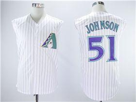 cheaper 5e882 c719f Arizona Diamondbacks #51 Randy Johnson White Turn Back The ...