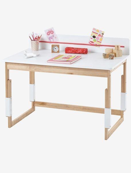 Verbaudet Dreifach Hohenverstellbarer Kinderschreibtisch Weiss Natur Schreibtis Kinder Schreibtisch Kinderschreibtisch Diy Mobel Einfach
