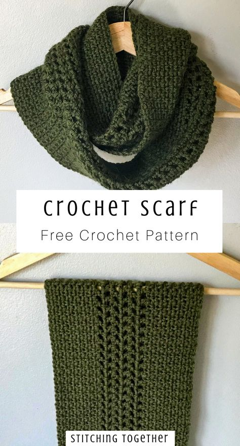 Crochet Moss Stitch Scarf Just the easy scarf you need this winter! This crochet moss stitch scarf pattern will be your favorite for your wardrobe and for giving as gifts. The beautiful infinity scarf made with. Bonnet Crochet, Crochet Shawl, Crochet Stitches, Knit Crochet, Infinity Scarf Crochet, Crochet Scarf Easy, Infinity Scarfs, Crocheted Scarf, Crochet Geek