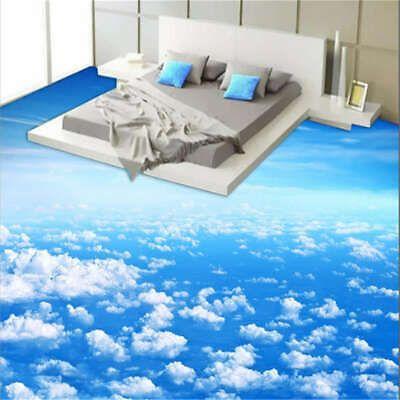 Bright Sky Cloud 3D Floor Mural Photo Flooring Wallpaper Home Print Decoration  | eBay