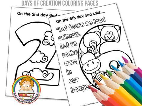 Creation Preschool Printables