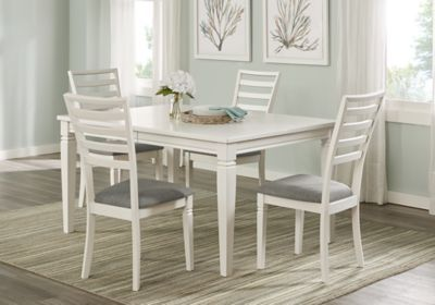 Riverdale White 5 Pc Rectangle Dining Room Dining Room Sets