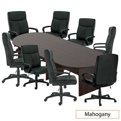 Gof 10 Ft Conference Table And 8 Chair Set G11782b Chair Only Available Conference Table Table Conference Table Chairs