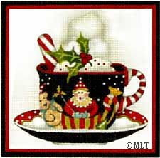 Melissa Shirley Designs   Hand Painted Needlepoint   Jester Cup o' Cheer ©Mary Lake-Thompson