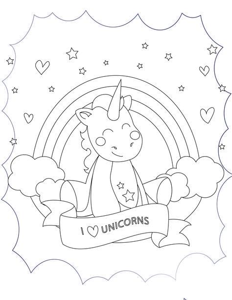 j aime les licornes à imprimer et colorier  unicorn