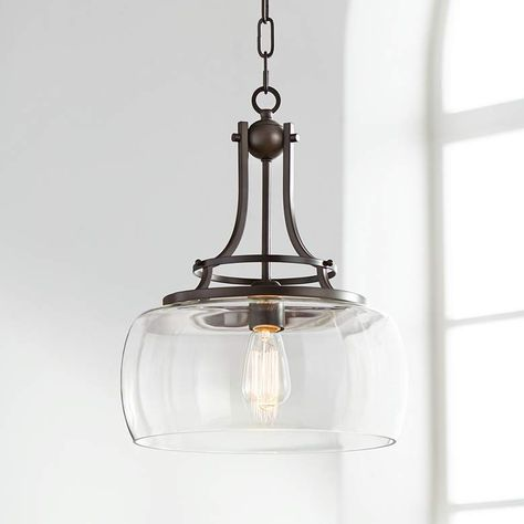 Small Clear Glass and Bronze Pendant Light | Small Chandelier Ideas